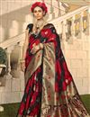 image of Designer Art Silk Fabric Red Color Party Wear Weaving Work Saree