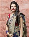 photo of Navy Blue Color Wedding Function Wear Art Silk Fabric Elegant Weaving Work Saree