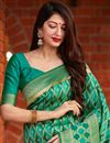 photo of Green Color Party Wear Art Silk Trendy Weaving Work Saree