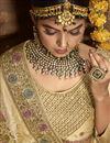 photo of Function Wear Banarasi Style Silk Fabric Weaving Work Saree In Beige Color