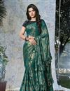 image of Eid Special Function Wear Designer Embellished Ready To Wear One Minute Saree In Fancy Fabric