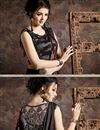 photo of Black Color Fancy Fabric Designer Indo Western Ready To Wear One Minute Saree