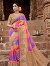 image of Multi Color Art Silk Puja Wear Fancy Weaving Work Saree