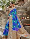 image of Art Silk Puja Wear Fancy Weaving Work Multi Color Saree