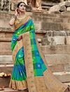 image of Puja Wear Art Silk Fancy Multi Color Weaving Work Saree