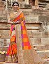 image of Art Silk Puja Wear Multi Color Weaving Work Fancy Saree