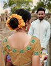 photo of Puja Wear Fancy Weaving Work Saree In Multi Color Art Silk