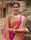 photo of Multi Color Puja Wear Art Silk Fancy Weaving Work Saree