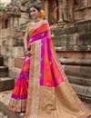 image of Multi Color Puja Wear Art Silk Fancy Weaving Work Saree