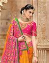 photo of Orange Color Function Wear Patola Silk Fabric Saree