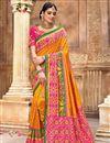 image of Orange Color Function Wear Patola Silk Fabric Saree