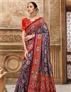 image of Function Wear Navy Blue Color Saree