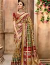 image of Function Wear Light Brown Color Patola Silk Fabric Saree