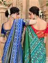 photo of Patola Silk Fabric Party Wear Saree In Blue Color