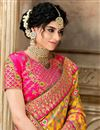 photo of Mustard Color Traditional Saree In Patola Silk Fabric