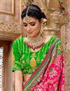 photo of Patola Silk Fabric Rani Color Designer Saree