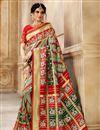 image of Patola Silk Fabric Designer Saree In Multi Color