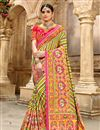 image of Multi Color Patola Silk Fabric Occasion Wear Saree