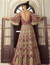 photo of Pink Color Function Wear Embroidered Floor Length Net Fabric Anarkali Dress