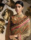 photo of Sangeet Wear Designer Beige Embroidered Saree In Fancy Fabric
