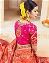 picture of Party Wear Orange Color Embroidered Fancy fabric Saree With Unstitched Designer Blouse