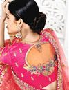 photo of Festive Special Sangeet Function Wear Designer Pink Color Fancy Embroidered Lehenga