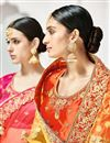 photo of Wedding Function Wear Cream And Mustard Color Designer Lehenga