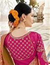photo of Art Silk Fancy Party Wear Yellow Weaving Work Saree