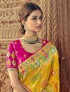 picture of Yellow Art Silk Sangeet Function Wear Saree With Designer Blouse
