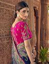 photo of Art Silk Sangeet Function Wear Navy Blue Saree With Designer Blouse
