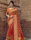 image of Sangeet Function Wear Art Silk Red Saree With Fancy Blouse