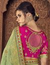 picture of Sea Green Sangeet Function Wear Art Silk Saree With Designer Blouse