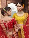 photo of Wedding Function Wear Silk Fabric Embroidered Red Color Lehenga Choli