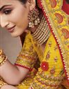 photo of Yellow Color Wedding Function Wear Silk Fabric Embroidered Lehenga