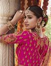 photo of Wedding Function Wear Magenta Color Embroidered Silk Fabric Lehenga Choli