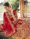 photo of Silk Fabric Wedding Function Wear Embroidered Lehenga In Red Color