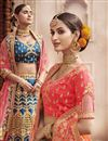 photo of Wedding Function Wear Pink Color Embroidered Lehenga In Silk Fabric