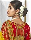 photo of Wedding Wear Fancy Yellow Color Silk Fabric Saree With Embroidered Blouse