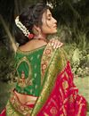 photo of Wedding Wear Silk Fabric Fancy Red Color Saree With Embroidered Blouse