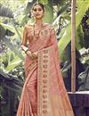 image of Pink Color Function Wear Art Silk Fabric Weaving Work Saree