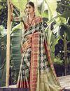 image of Festive Wear Beige Color Art Silk Fabric Weaving Work Saree