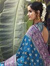 photo of Party Wear Art Silk Fabric Weaving Work Saree In Teal Color