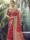 image of Red Color Party Wear Art Silk Fabric Weaving Work Saree