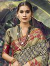 photo of Art Silk Fabric Wedding Wear Dark Beige Color Weaving Work Saree
