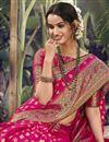 photo of Rani Color Wedding Wear Art Silk Fabric Weaving Work Saree