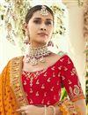 photo of Red Color Silk Fabric Reception Wear Lehenga Choli
