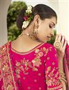 photo of Silk Fabric Embroidered Rani Color Designer 3 Piece Lehenga Choli
