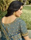 photo of Function Wear Silk Fabric Classy Weaving Work Saree In Teal Color