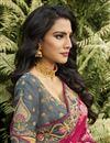 photo of Function Wear Rani Color Classy Silk Fabric Weaving Work Saree