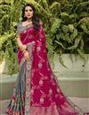 image of Function Wear Rani Color Classy Silk Fabric Weaving Work Saree